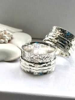 The Silver Garden - Handmade Sterling Silver Meditation Ring