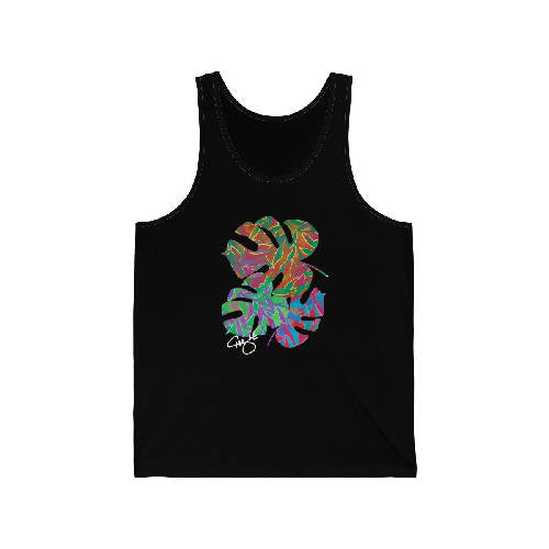 Men's Electric Philodendron Tank Top