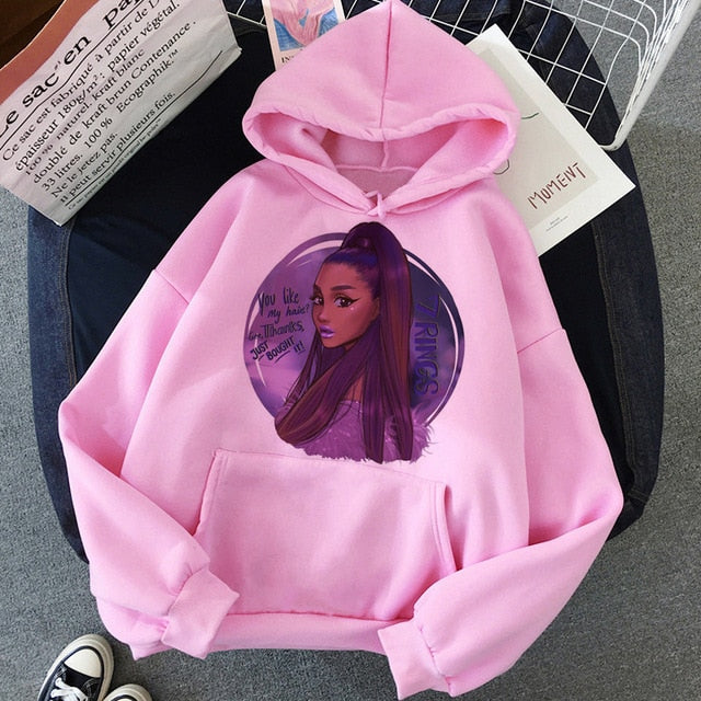 Ariana Grande Thank You Next Harajuku Graphic Hoodie Women 90s Ullzang 7 Rings Funny Sweatshirt Don't Call Me Angel Hoody Female
