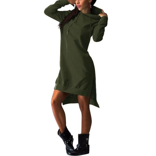 Women Hooded 2019 Autumn Hoodie Long Sleeve Slim College Style Women Hoody Dress Letter Print Hooded Front Pocket Sweatshirt