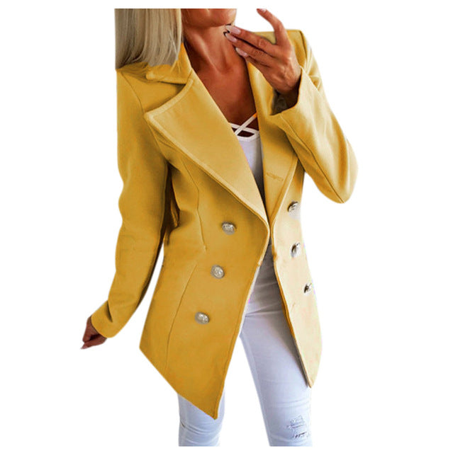 2019 Womens Plus Size Blazers And Jackets Winter Casual Buttons Open Front Coat Ladies Office Jacket Outwear blazer feminino