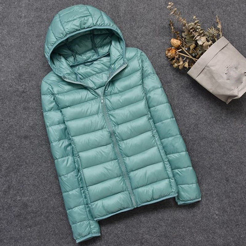 Autumn Winter Women Thin White Duck Down Jacket Parka Female Ultra Light Down Coat Short Tops Plus Size jacket lady jaqueta