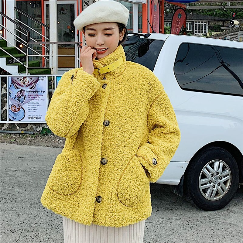 Women Winter Warm Teddy Coat 2019 Fashion Faux Fur Coat Lamb Fur Jacket Ladies Basic Jacket Parka Outwear Blend Coat