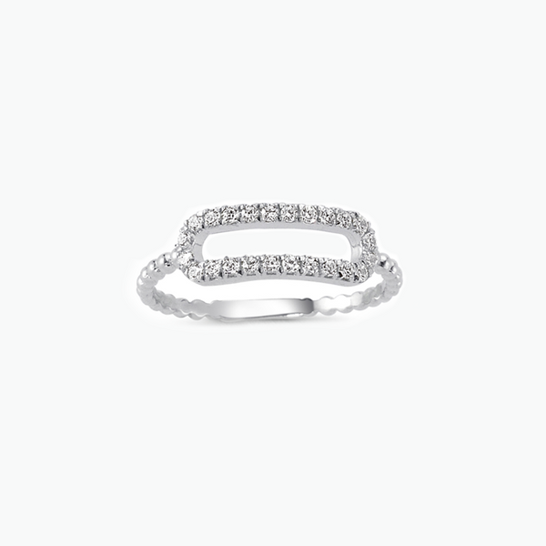 BAGUE RECTANGLE DIAMANTS