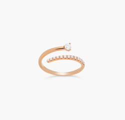 Bague Emilynn diamant or rose