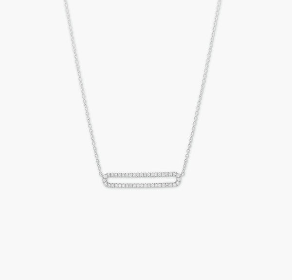 COLLIER RECTANGLE OUVERT OR BLANC