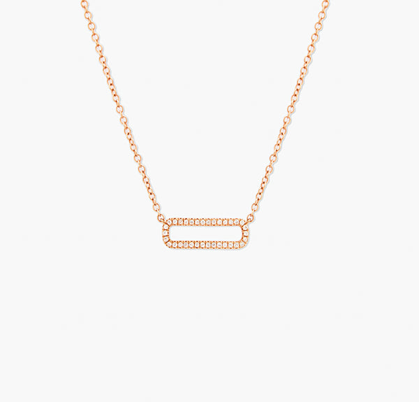 COLLIER MINI RECTANGLE OR ROSE