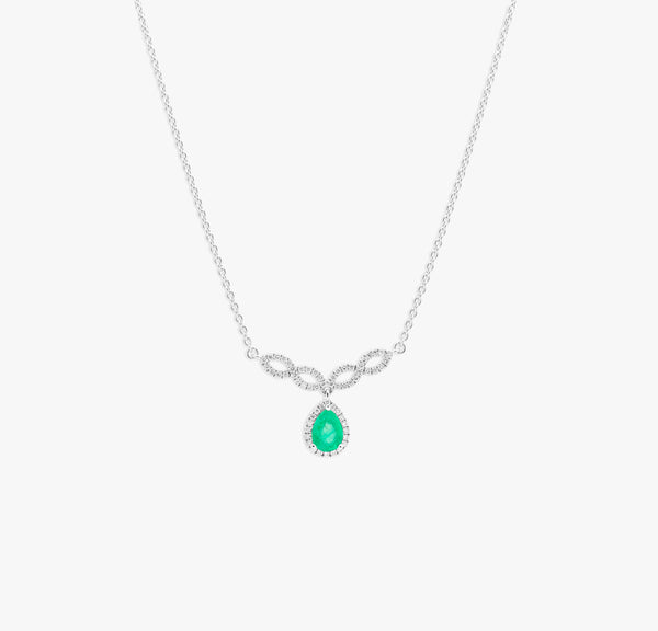 Collier Marquise emeraude