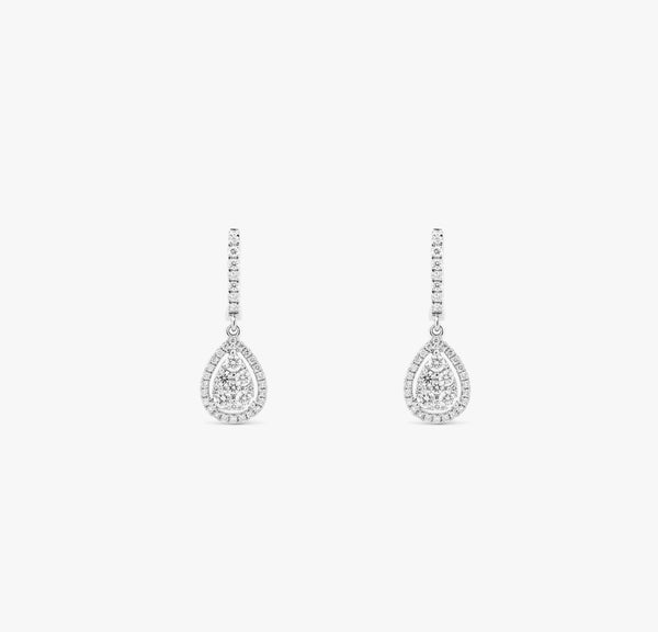 Boucles poire diamants