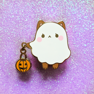Load image into Gallery viewer, Ghost Shiba Dangling Pin