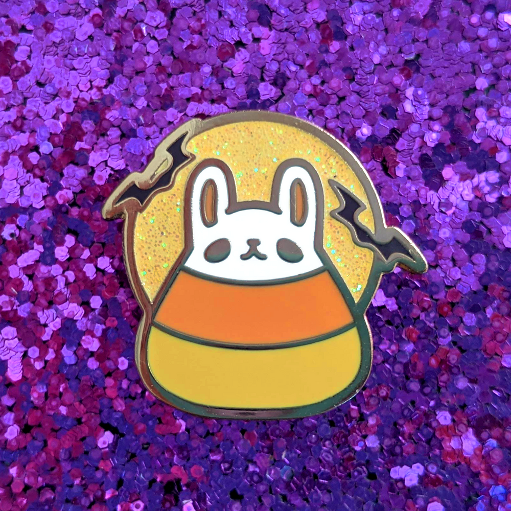 CANDY CORN BUN ENAMEL PIN