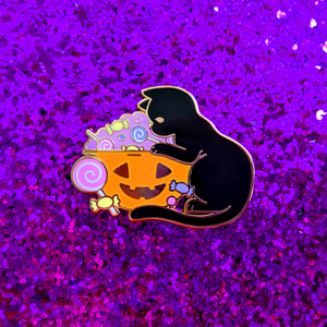 Load image into Gallery viewer, Spooky Treats Enamel Pin
