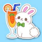 CARROT COTTONTAIL SMOOTHIE STICKER