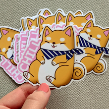 Load image into Gallery viewer, Chill Shiba Vinyl Sticker