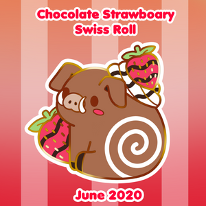 Load image into Gallery viewer, Chocolate Strawboary Swiss Roll Pin