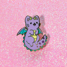 Load image into Gallery viewer, Dragon Kitty Enamel Pin