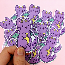 Load image into Gallery viewer, Dragon Kitty Vinyl Sticker