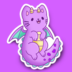 Dragon Kitty Vinyl Sticker