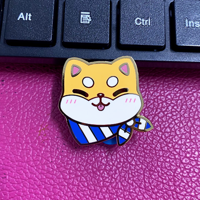 Load image into Gallery viewer, Happy Shiba Enamel Pin