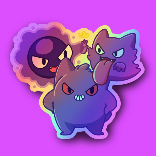 Ghostly Gang Holographic Sticker