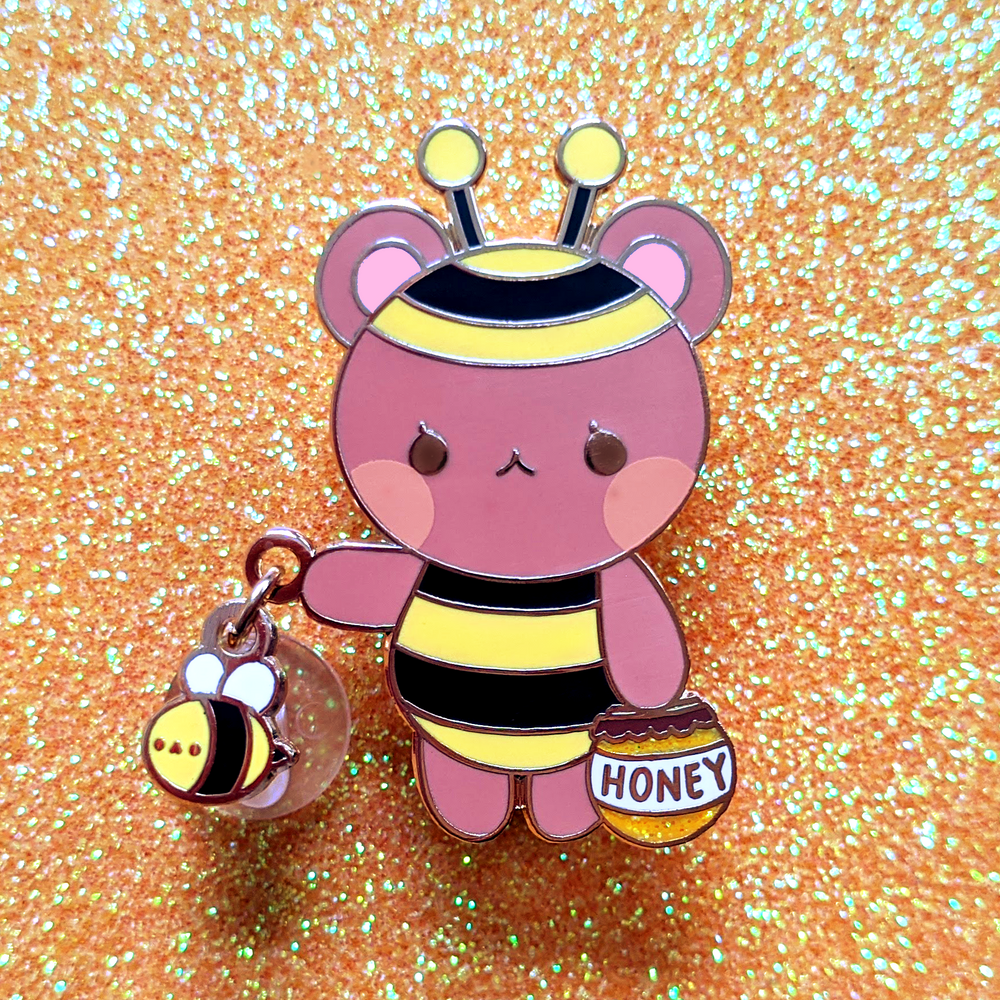 Honey Bear Dangling Pin