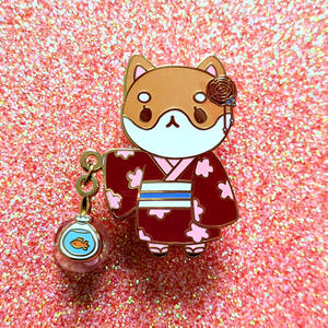 Load image into Gallery viewer, Festival Shiba Dangling Pin