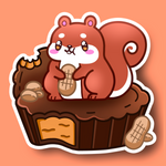 NUTTY PEANUT BUTTER CUP STICKER