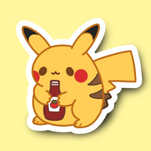 Load image into Gallery viewer, Pikachonk Vinyl Sticker