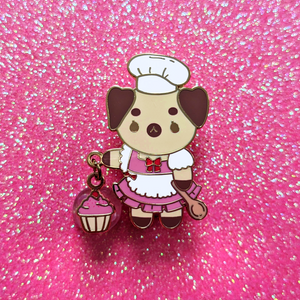 Baker Pug Dangling Pin