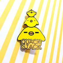 Load image into Gallery viewer, Quack Stack Enamel Pin