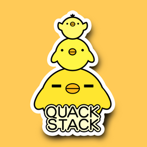 Load image into Gallery viewer, Quack Stack Vinyl Sticker