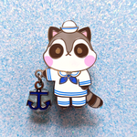 Sailor Raccoon Dangling Pin