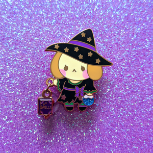 Witch Pup Dangling Pin