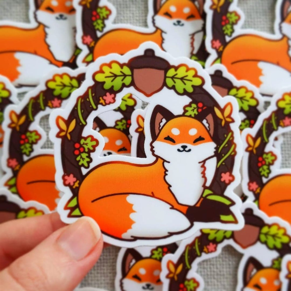 Load image into Gallery viewer, WOODLAND FOX STICKER