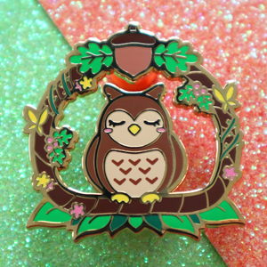 Load image into Gallery viewer, WOODLAND OWL PIN
