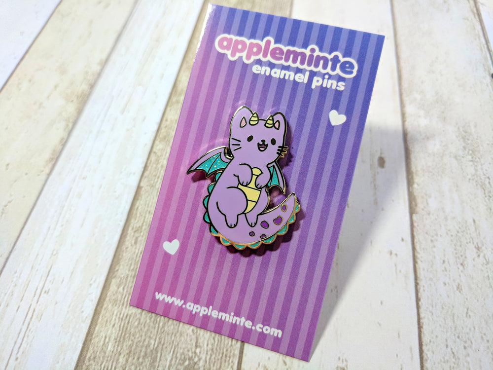 Dragon Kitty Enamel Pin