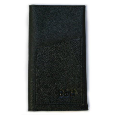 The Negotiator - Genuine Leather phone wallet Black