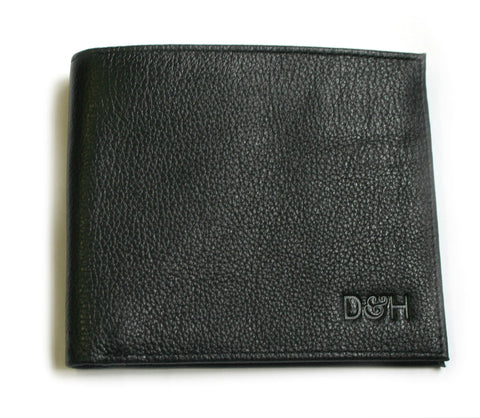 The Wall Street Genuine Leather Slim-Fit Card Wallet - Black