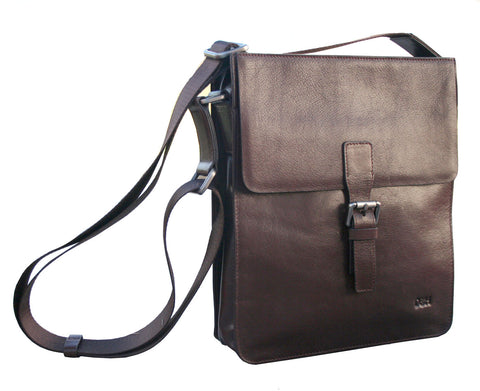 The 'Dapper' Genuine Leather Satchel With Buckle