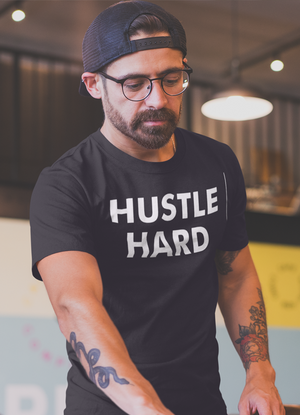 Hustle Hard Men T-Shirt (Black)