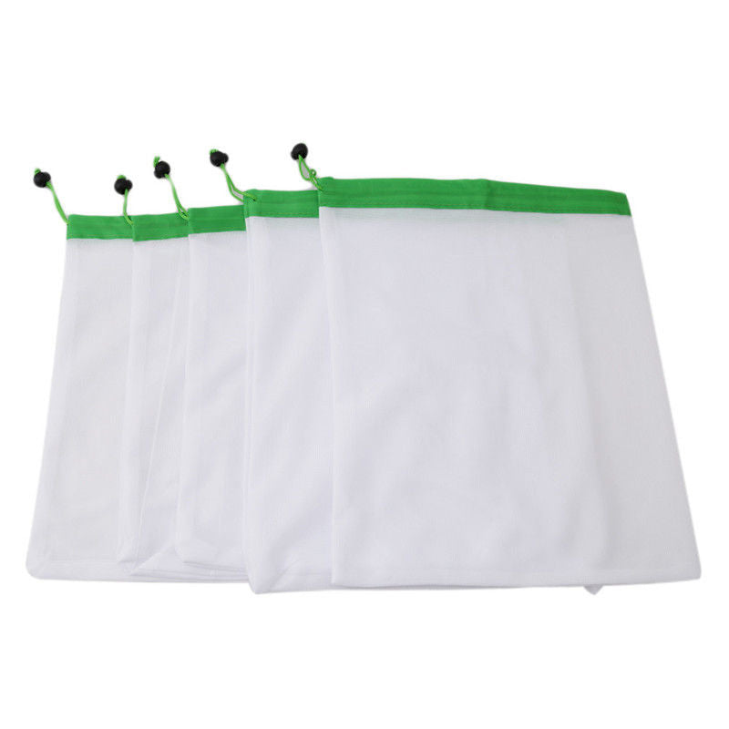 5pcs Reusable Mesh Produce Bags - choice of 3 sizes