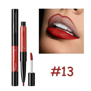 Double-ended Matte Lipstick with Lipliner Pencil - in 16 fabulous colours