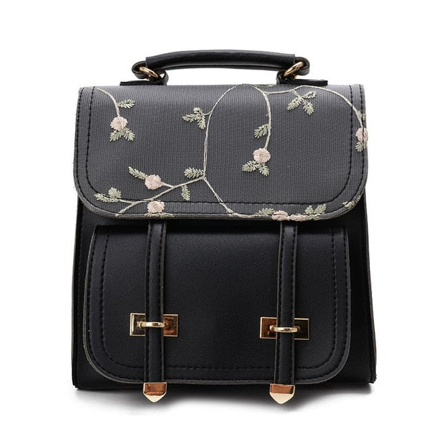 Leather Floral Backpack - in 5 fabulous colours