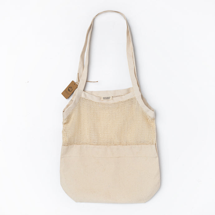 Net & Canvas Tote - 100% Cotton
