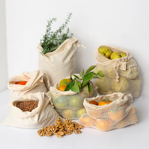 Canvas Produce Pouch - Set of 3 (3 sizes)