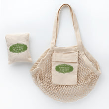 Load image into Gallery viewer, Foldable Mesh Bag, 100% Cotton