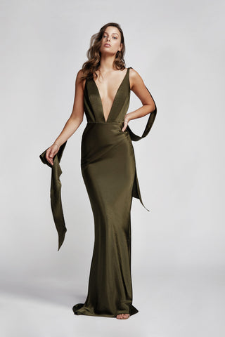 Lexi Adora Olive Green Dress