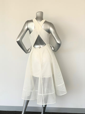 Forever New White Crossover Dress