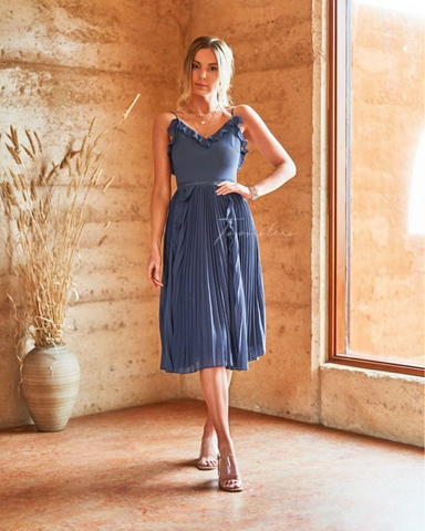 Two Sisters Steel Blue Maia Dress