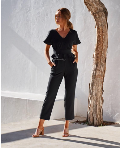 Two Sisters Black Layna Jumpsuit